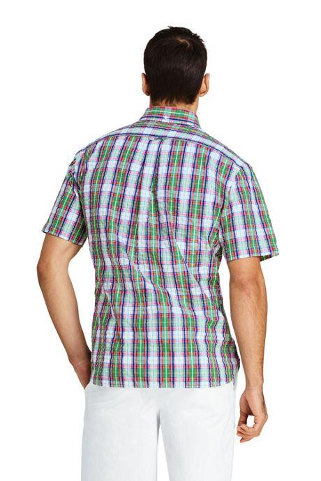 Men's Traditional Fit Short Sleeve Seersucker Shirt