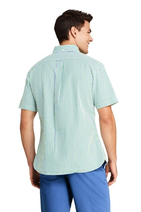 Men's Tall Traditional Fit Short Sleeve Seersucker Shirt