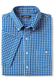 Men's Tall Traditional Fit Short Sleeve Comfort First Seersucker Shirt with Coolmax
