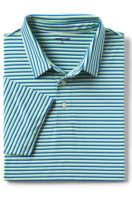 Men's Short Sleeve Stripe Comfort-First Golf Polo Shirt