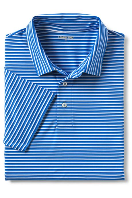 Men's Tall Short Sleeve Stripe Comfort-First Golf Polo