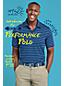 Le Polo Performance Rayé à Manches Courtes, Homme Stature Standard