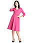 Women's 3-quarter Sleeve A-line Ponte Dress