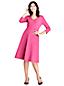 Women's 3-quarter Sleeve A-line Ponte Dress
