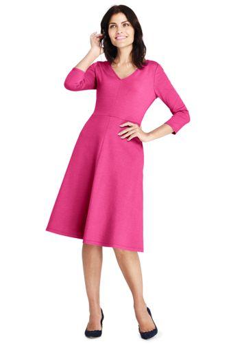 La Robe Évasée Stretch Ponte di Roma, Femme Stature Standard