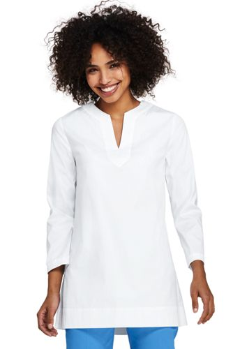 Women's Tunic Top in Stretch Cotton