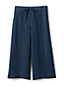 Women's Linen Wide Leg Cropped Trousers