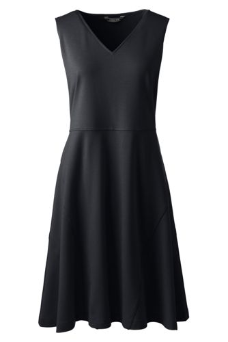 Women's Petite Sleeveless Ponte Aline Dress