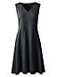 La Robe Évasée Sans Manches Col V, Femme Stature Standard