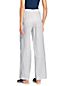 Le Pantalon Large Rayé en Lin Lavé Taille Mi-Haute, Femme Stature Petite