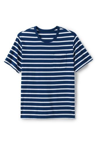 Men's Washed Jersey Striped T-shirt