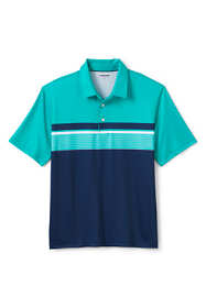 Men's Tall Short Sleeve Printed Stripe Performance Golf Polo