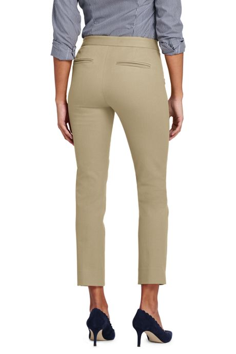 Women's Petite Mid Rise Bi-Stretch Pencil Crop Pants