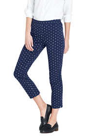 Women's Mid Rise Bi-Stretch Pencil Crop Pants