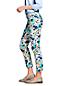 Le Slim Bi-Stretch 7/8 Imprimé Taille Mi-Haute, Femme Stature Standard