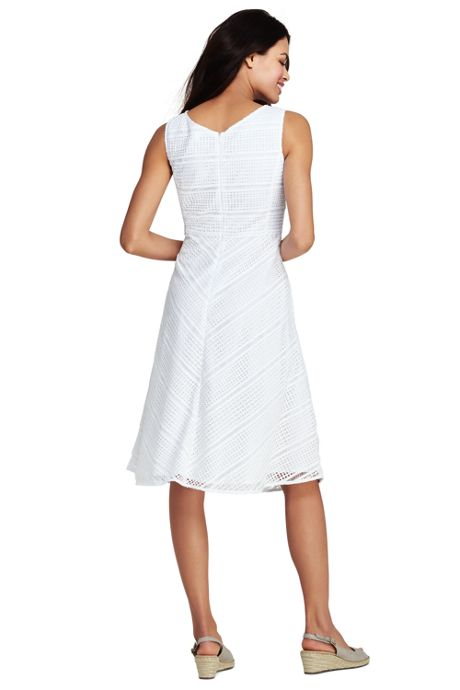 Women's Sleeveless Geo Lace Dress