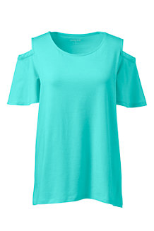 Women's Cold Shoulder Top in Cotton/Modal