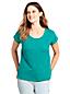 Le T-Shirt Encolure Ajourée, Femme Stature Standard