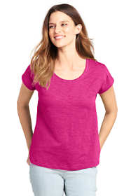 Women's Petite Dolman Sleeve Scoop Neck T-Shirt