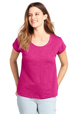 Womens L//S Tee Shirt MAGENTA PURPLE Scoop Neck SIZE XL 16-18