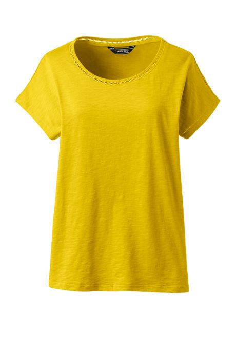 Women's Plus Size Dolman Sleeve Scoop Neck T-Shirt