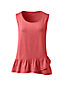 Women's Petite Vest Top with Ruffle Hem