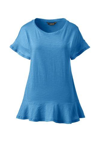 Le T-Shirt Léger à Volants, Femme Stature Standard