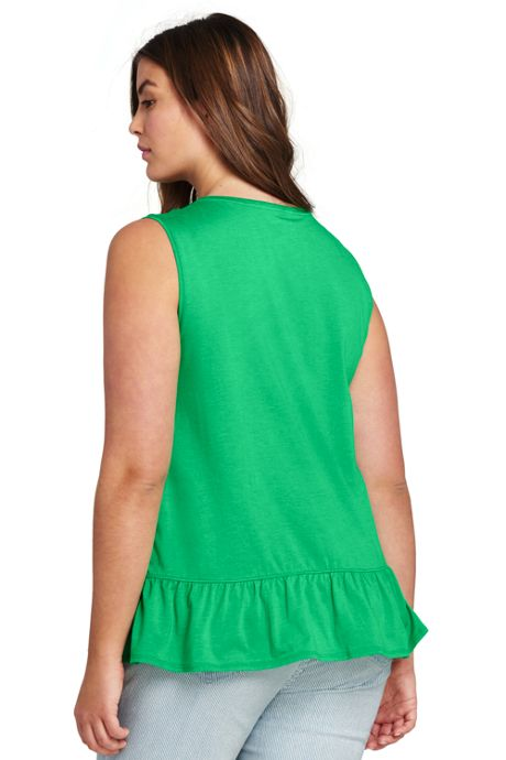 Women's Plus Size Ruffled Flounce Tank Top