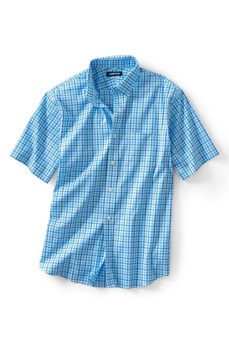 Men's Tall Short Sleeve Traditional Fit Comfort-First Shirt with CoolMax