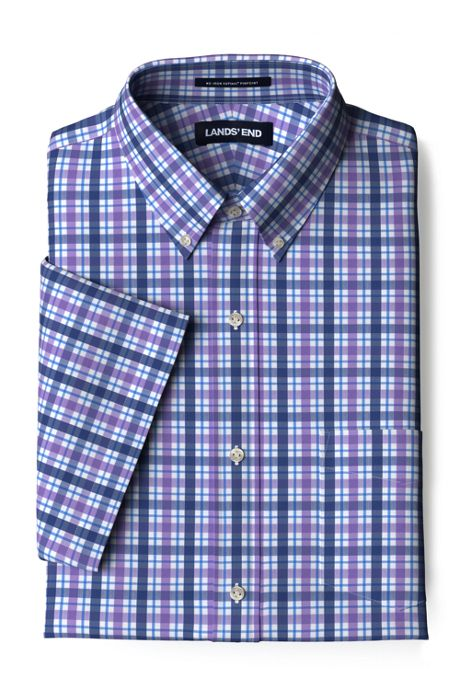 Men's Short Sleeve Traditional Fit Comfort-First Shirt with Coolmax