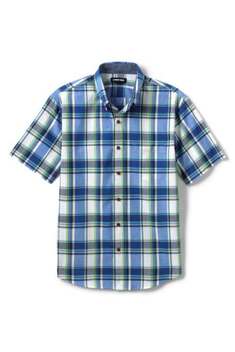 Men's Traditional Fit Short Sleeve Madras Shirt