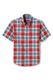 Men's Traditional Fit Short Sleeve Madras Shirt, alternative image