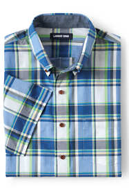 Men's Tall Traditional Fit Short Sleeve Madras Shirt