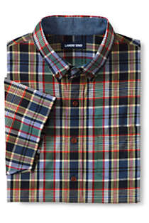 Men's Traditional Fit Short Sleeve Madras Shirt, Front