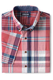 Men's Big and Tall Traditional Fit Short Sleeve Madras Shirt