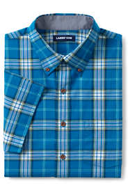 Men's Tailored Fit Short Sleeve Madras Shirt