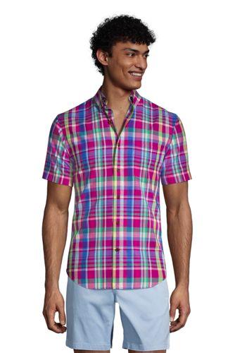 La Chemise Madras Col à Pointes Boutonnées, Homme Stature Standard
