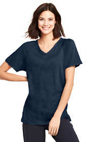 Women's Starfish Trimmed Dolman Sleeve V-neck Tunic