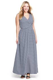 Women's Plus Size Sleeveless Knit Surplice Maxi Dress