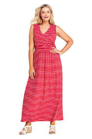 Women's Plus Size Sleeveless Knit Surplice Maxi Dress