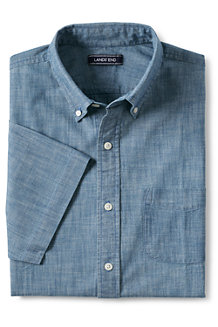 Men's Chambray Short Sleeve Shirt