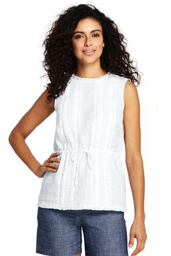 Women's Linen Embroidered Summer Top