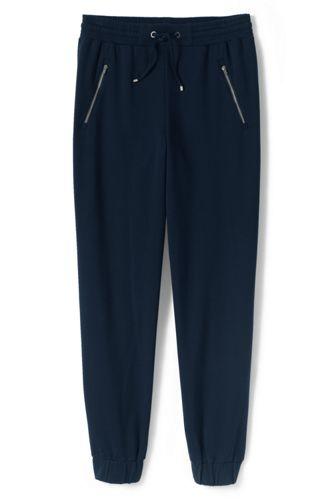 Le Pantalon de Jogging en Coton/Modal Stretch, Femme Stature Standard