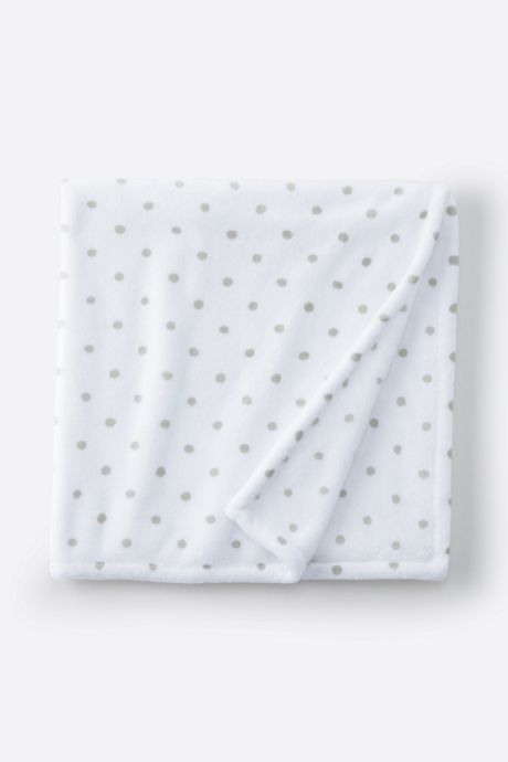 Printed Dot Plush Fleece Baby Blanket