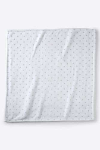 Baby blankets lands end printed dot plush fleece baby blanket negle