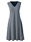 Women's Sleeveless Patterned Ponte Dress
