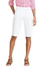 """Women's Petite Mid Rise 12"""" Chino Bermuda Shorts"""