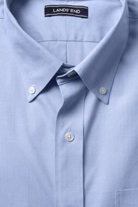 Men's Big & Tall Solid No Iron Supima Pinpoint Comfort Collar Shirt