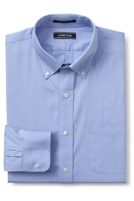 Men's Comfort Collar No Iron Supima Pinpoint Shirt