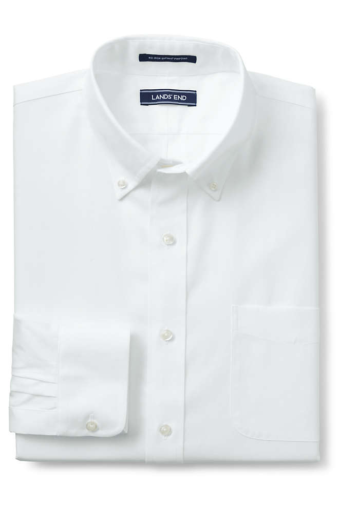 Men's Big and Tall Traditional Fit No Iron Supima Pinpoint Comfort Collar Shirt, Front